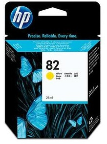 Original HP No.82 Yellow Ink Cartridge (CH568A)