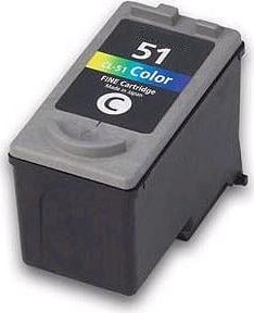 Remanufactured Canon CL-51 Colour High Capacity Ink cartridge