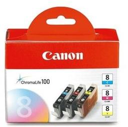 Original Canon CLI-8CMY Ink Cartridge Multipack (0621B029)