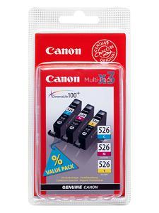 Original CLI-526 a set of 3 Colours Multi Pack Cyan/Magenta/Yellow