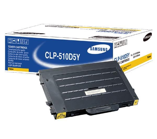 Original Samsung CLP-510D5Y Yellow Toner Cartridge