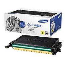Original Samsung CLPY660A Yellow Toner Cartridge