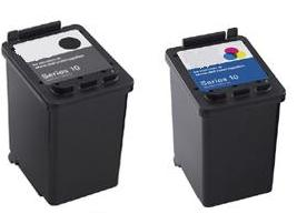Remanufactured Dell GM720/YY640 Black and DR747/UN398 Colou Ink Cartridges (SERIES 10)