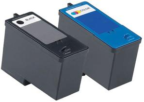 Remanufactured Dell J5566/M4640 Black (592-10092) High Capacity and J5567/M4646 Colour (592-10091) High Capacity Ink cartridges (Series 5)