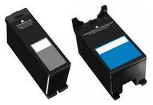 Compatible Dell 592-11396 Black and Colour 592-11334 Ink Cartridges Set (Series 21)