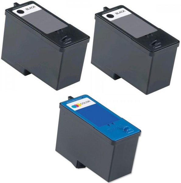 Remanufactured Dell J5566/M4640 Black (592-10092) High Capacity  and J5567/M4646 Colour (592-10091) High Capacity Ink Cartridges + EXTRA BLACK (Series 5)