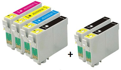 Compatible Epson 16XL a Set of 4 Ink Cartridges High Capacity + 2 EXTRA BLACK T1631/T1632/T1633/T1634