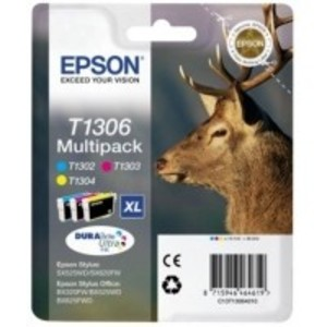 Original Epson T1306 Colour Multipack (CMY)