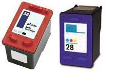 Remanufactured HP 28 Colour (C8728AN) and HP 58 Photo (C6658AE) High Capacity Ink cartridges