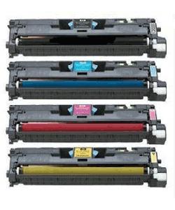 Compatible HP C9700A, C9701A, C9702A, C9703A a Set of 4 Toner Cartridges
