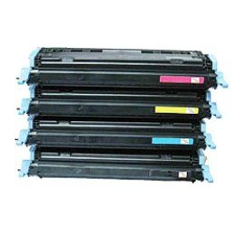 Compatible HP Q6000A, Q6001A, Q6002A, Q6003A a Set of 4 Toner Cartridges