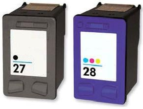 Remanufactured HP 27 Black (C8727AN) and Hp 28 Colour (C8728AN) High Capacity Ink cartridges