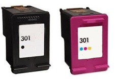Remanufactured HP 301 Black (CH561EE) and 301 Colour (CH562EE) Ink Cartridges High Capacity. For Use With Newly Released HP Printer Models