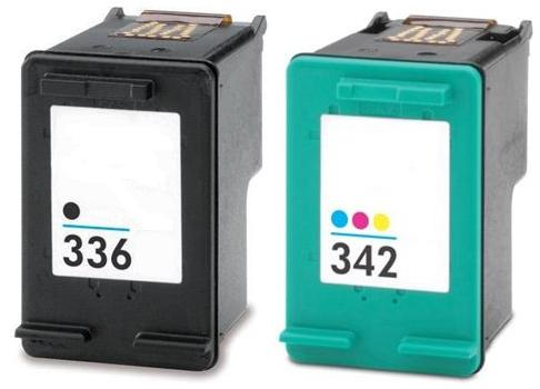 Remanufactured HP 336 Black (C9362EE) and HP 342 Colour Ink Cartridges (C9361EE)