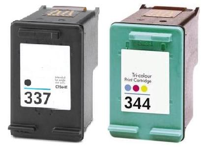 Remanufactured HP 337 Black  and HP 344 Colour  Ink cartridges High Capacity