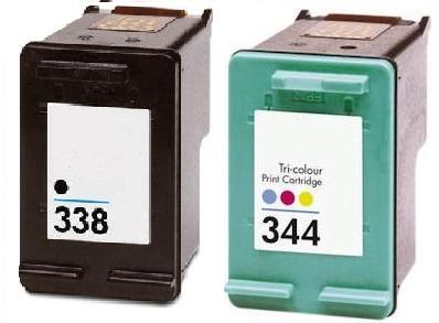 Remanufactured HP 338 Black and HP 344 Ink cartridges