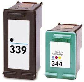 Remanufactured HP 339 Black  and HP 344 Colour  Ink cartridges High Capacity
