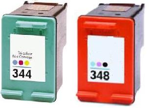 Remanufactured HP 348 Photo  and HP 344 Colour  Ink cartridge High Capacity