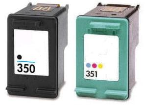 Remanufactured HP 350 Black (CB335EE) and 351 Colour (CB337EE) Ink Cartridges