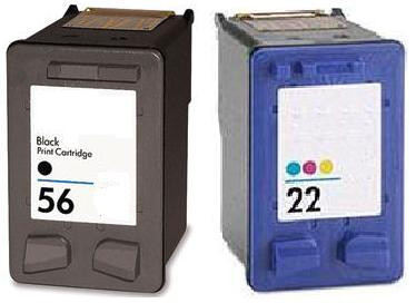 Remanufactured HP 56 Black and HP 22 colour Ink cartridge