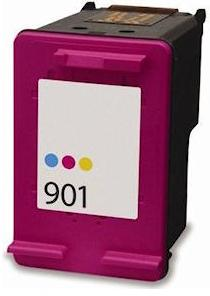Remanufactured HP 901 Colour Ink cartridge High Capacity (CC656aa)