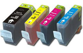 Compatible Canon BCI-3 a Set of 4 Ink cartridge (Black/Cyan/Magenta/Yellow)