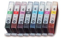 Compatible Canon BCI-6  a Set of 8 Ink cartridges (6BK, 6C, 6M, 6Y, 6PC, 6PM, 6G, 6R)