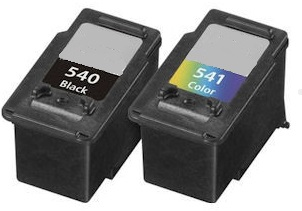 Remanufactured Canon PG-540 Black and CL-541 Colour High Cap. Ink cartridges