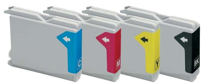 Compatible Brother LC1000/LC51 Set of 4 Ink cartridges