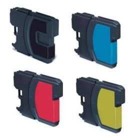 Compatible Brother LC1100 a Set of 4 Ink cartridges
