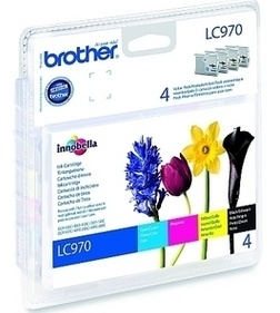 Original Brother LC970 Ink Cartridge Value Multipack