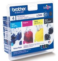 Original Brother LC980 Ink Cartridge Value Pack