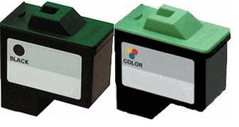 Remanufactured Lexmark 16 (10N0016) Black and Lexmark 26 (10N0026) Colour Ink cartridge High capacity