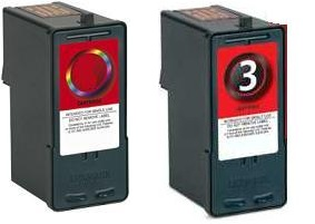 Remanufactured Lexmark 2 Colour and 3 Black Ink Cartridges
