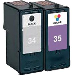 Remanufactured Lexmark 34 (18C0034e) and 35 (18C0035e) High Capacity Ink Cartridges