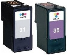 Remanufactured Lexmark 31 Photo and 35 Colour Ink Cartridges High Capacity