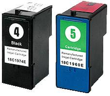 Remanufactured Lexmark 4 (18C1974) and 5 (18C1960) Remanufactured Cartridges