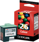 Original Lexmark 26 Colour Cartridge  (10N0026)