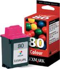 Original Lexmark 80 Colour Cartridge (12A1980)