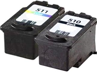 Remanufactured Canon PG-510 Black and CL-511 Colour Ink cartridges High Capacity