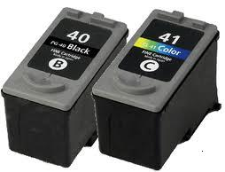 Remanufactured Canon PG-40 and CL-41 Ink cartridges