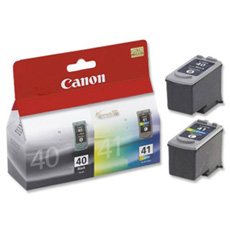 Original Canon PG40 and CL41 Ink Cartridges Twin pack