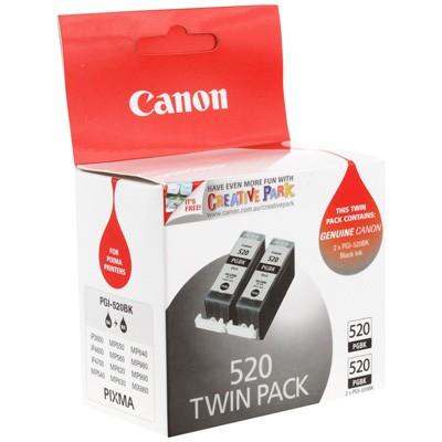 Original Canon PGI-520BK Black Ink Cartridges Twin Pack