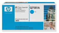 Original HP Q7581A Cyan Toner Cartridge