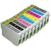 Compatible Epson T0870/T0871/T0872/T0873/T0874/T0877 /T0878/T0879 Set of 8 cartridges