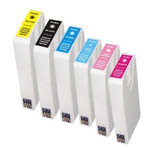 Compatible Epson T5591/T5592/T5593/T5594/T5595/T5596 a Set of 6 cartridges