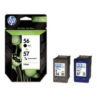 Original HP 56/57  Ink Cartridges black and colour Combo-pack  (SA342AE)