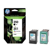Original HP 350 black and 351 colour  Ink Cartridges (SD412EE) Combo-pack