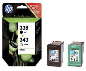HP 338/343 Combo-pack Inkjet Cartridges (SD449EE)