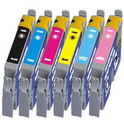 Compatible Epson T0331/T0332/T0333/T0334/T0335/T0336 a Set of 6 Ink cartridges